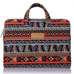 Mosiso laptop case Sleeve Case bag cover Bohemian style canvas laptop / Macbook / Macbook Air / Macbook Pro / Ultra book 15-15.6 inches (Phoenix & logo)