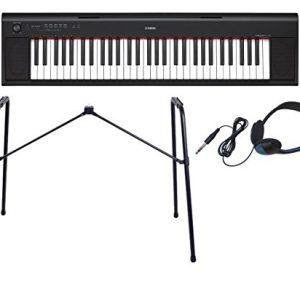 To the genuine stand L-2L + headphone set] YAMAHA / Yamaha piaggero NP-12 B electronic keyboard (black / black)