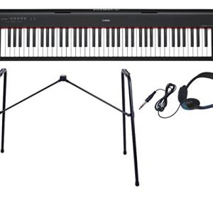 To the genuine stand L-2L + headphone set] YAMAHA / Yamaha piaggero NP-32 B electronic keyboard (black / black)