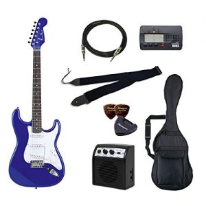 PhotoGenic electric guitar beginner introductory Value Set Stratocaster type ST-180 / MBL metallic blue rosewood fingerboard
