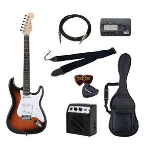 PhotoGenic electric guitar beginner introductory Value Set Stratocaster type ST-180 / SB San deals introductory set aligned the minimum of items in order to burst rosewood fingerboard