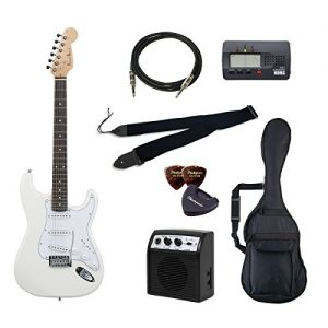 PhotoGenic electric guitar beginner introductory Value Set Stratocaster type ST-180 / WH deals introductory set aligned the minimum of items to white rosewood fingerboard