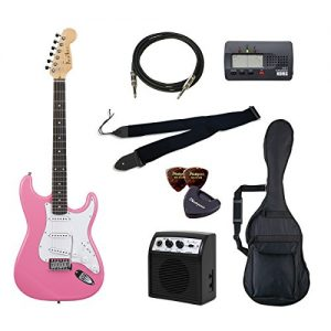 PhotoGenic electric guitar beginner introductory Value Set Stratocaster type ST-180 / PK pink rosewood fingerboard