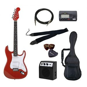 PhotoGenic electric guitar beginner introductory Value Set Stratocaster type ST-180 / MRD deals introductory set aligned the minimum of items in order to metallic red rosewood fingerboard