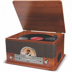 ION Audio Retro style music player seven types play 【Record, cassette, CD, radio, USB, Bluetooth, external input】 Superior LP