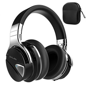 Dylan Bluetooth headphones High sound quality Hi-Fi active noise canceling function loaded Max 20 hours continuous playback NFC loaded Soft large-sized ear pads Sealed wireless headphones Over-the-ear black QS1