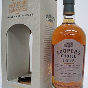 Inver Gordon 43 years 1972 Bourbon · Cask · Matured (Cooper's choise) 46 degrees 700 ml [並行輸入品]