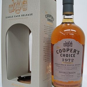 Inver Gordon 43 years 1972 Bourbon · Cask · Matured (Cooper's choise) 46 degrees 700 ml [並行輸入品]